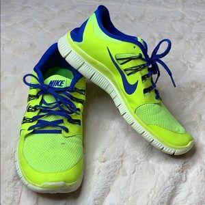 Nike | Free 5.0 | Neon | Sneakers | Running